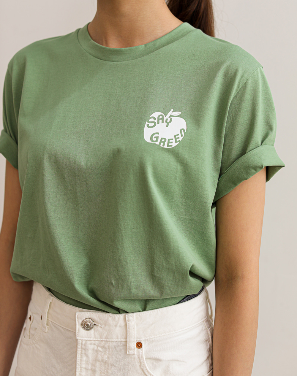 Say Green T-Shirts (Olive Green)