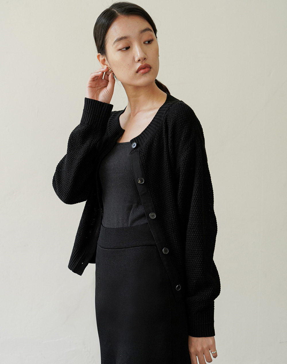 Clover Cardigan (Black)