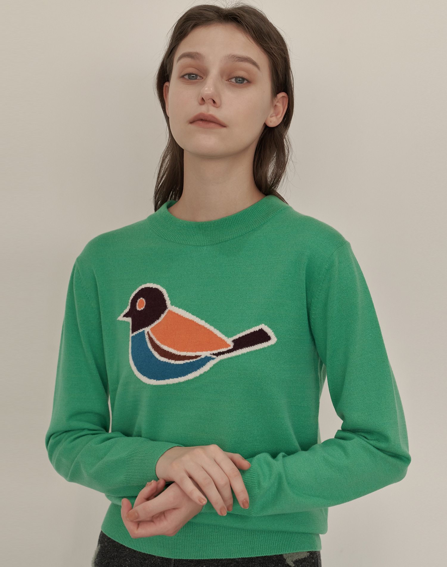 Bird Pullover (Mint Green)