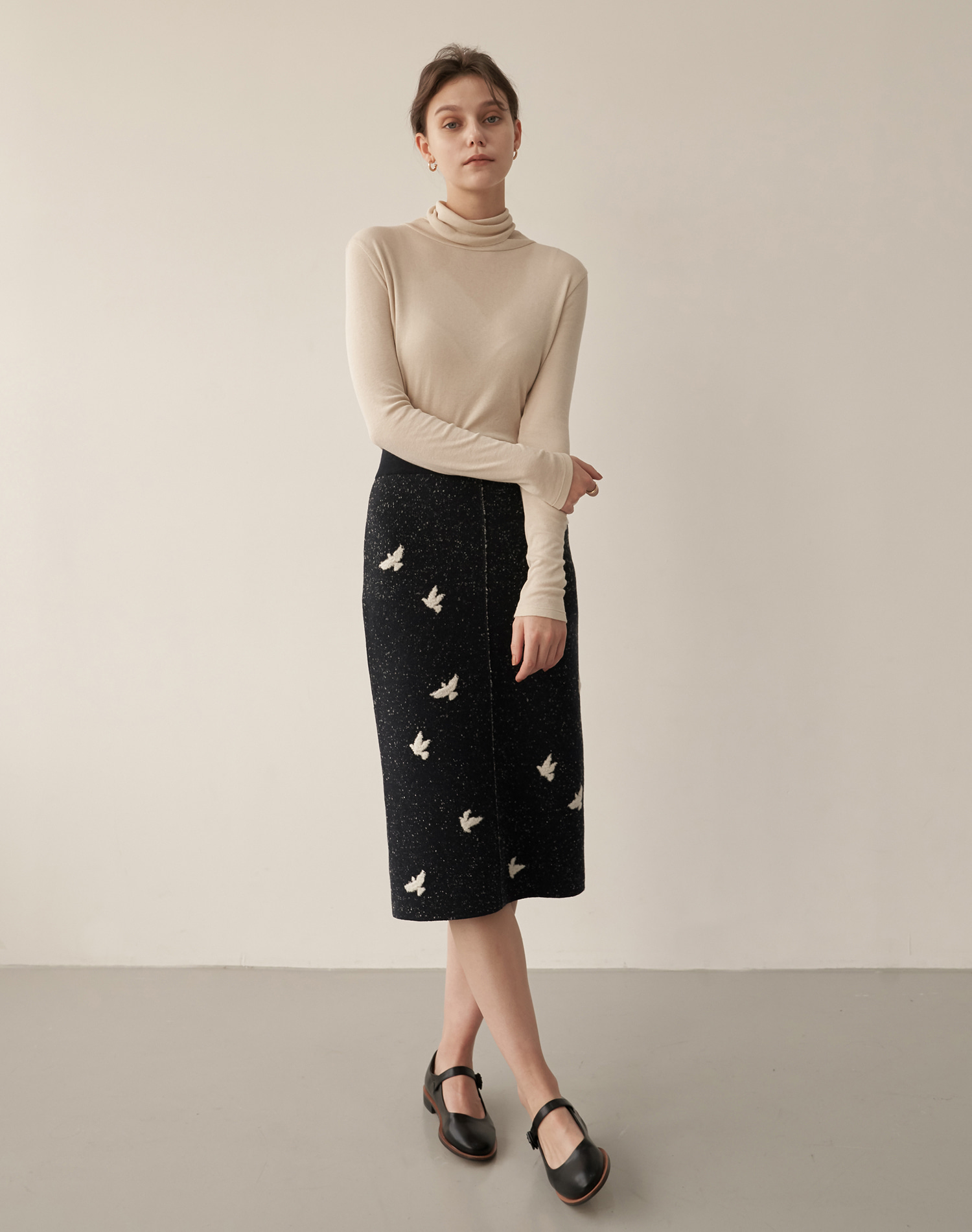 Bird Skirts (D/Navy)